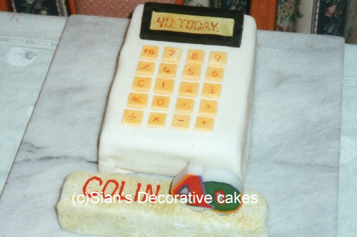 Calculator birthday cake